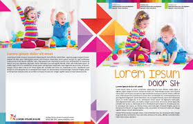 home myindesign child day care newsletter template