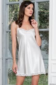 Короткая <b>шелковая сорочка</b> для дома и отдыха <b>DIVA</b>-white (EM ...