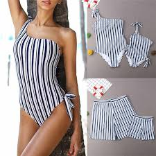 New Sweet <b>Mommy Baby Swimwear</b> Women <b>One</b> Piece <b>Swimsuit</b> ...