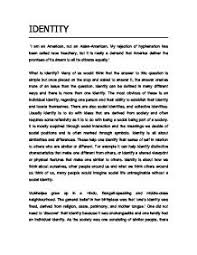 identity essay topicscultural identity essay example  personality essays papers example     identity essay