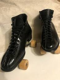 Betty Lytle By <b>Hyde Men</b> Black Leather Roller Skates Size 9 <b>Made</b> In ...
