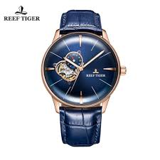 <b>New Reef Tiger/RT Designer</b> Casual Watches Convex Lens Rose ...