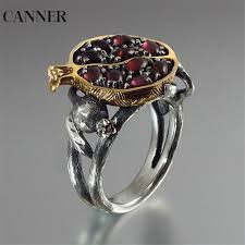 <b>CANNER</b> Hollow Garnet Vintage Rings For <b>Women</b> Jewelry ...