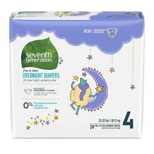 Seventh Generation <b>Free & Clear</b> Overnight Baby <b>Diapers</b> Stage 4 ...