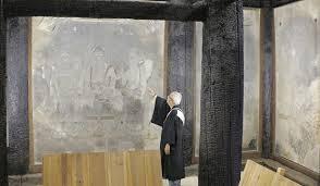 「法隆寺金堂で火災。国宝の壁画を焼損。」の画像検索結果