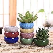 6 Pcs lot Ceramic Flower Pots Juicy Plants Small <b>Bonsai</b> Cacuts Pot ...