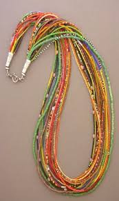 Colorful <b>seed bead Necklace</b> (с изображениями) | Изготовление ...