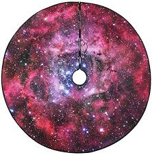 INTERESTPRINT Christmas Tree Skirt Nebulae Star ... - Amazon.com