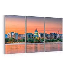 Madison Skyline Canvas Madison Canvas Art ... - Amazon.com