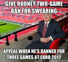 The FA's Indignation Over Rooney Euro 2012 Ban Summed Up In One ... via Relatably.com