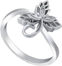 Серебряное кольцо <b>Silver Wings</b> 21SET15285-<b>113</b> с кубическим ...