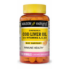 <b>COD LIVER OIL</b> WITH VITAMIN A, C, & D <b>CHEWABLES</b> (orange ...