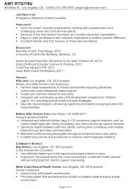 counseling resume sample template counseling resume sample