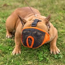 Breathable Mesh Short <b>Snout Pet Dog Muzzle Adjustable</b> French ...