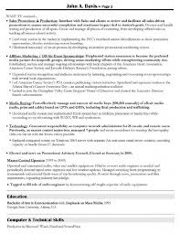 advertising director resume s and advertising resume