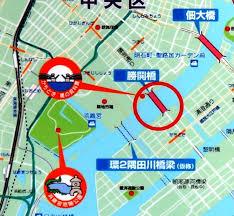 「勝鬨橋1940地図」の画像検索結果