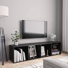<b>Book Cabinet/TV Cabinet Black</b> 143x30x36 cm – The Furniture Arena