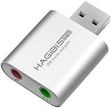 <b>Hagibis USB</b> External Sound Card Adapter 2 in 1 <b>USB</b> to 3.5mm ...