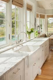 shoreline kitchen example of a large coastal eat in kitchen design in new york with a spacious eat kitchen