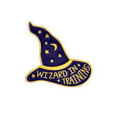 Wizard In Training Personality Witch Magic Wizard Hat Brooch <b>Star</b> ...