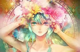 """Résultat de recherche d'images pour """"manga fille cheveux rose robe"""""""