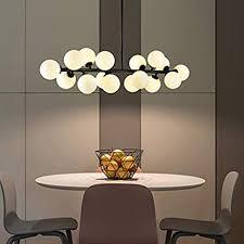 Fandian <b>Post</b>-<b>Modern</b> Chandelier 16 Round Glasses <b>LED Ceiling</b> ...