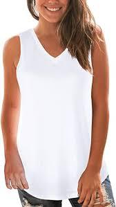 NIASHOT <b>Women's Sleeveless V-Neck</b> Criss Cross Soft Casual ...