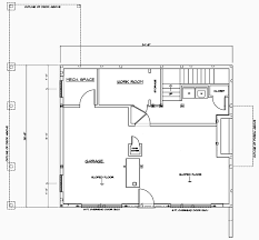 The Plymouth   Carriage House Plan   Cottage Style Home  Barn Homecarriage house lower level floor plan