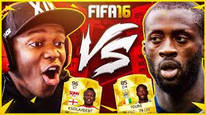 The Eagles Youtube Youtube Star Ksi Plays Fifa 16 With Man City39s Yaya Toure Video