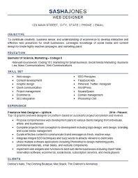 web designer resume example web design resume example