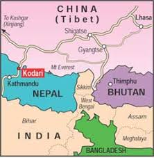 Image result for bhutan is located between china india