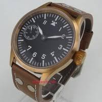 <b>44mm</b> corgeut <b>black sterile</b> dial bronze plated case sapphire glass ...