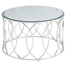 Elana Silver <b>Stainless Steel Round</b> Coffee Table | Pier 1