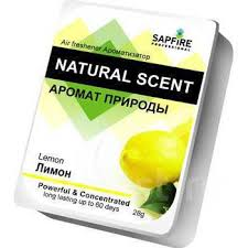 Лимон) <b>Ароматизатор в салон</b> автомобиля. Natural Scent Sapfire ...