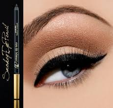 to get the look above all you need is eye of horus smoky eyeliner mascara nubian