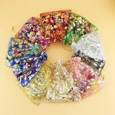 Wholesale 200pcs drawable <b>mixed color</b> small <b>organza</b> bags ...