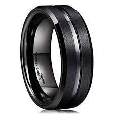 King Will <b>Classic</b> Men Black Tungsten Carbide <b>8mm</b> Polished Matte ...