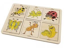 <b>Деревянная игрушка Tau Toy</b> Пазл Насекомые 28х19 см ...