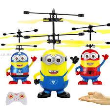 . Minions Aircraft Electric <b>Suspension Ball</b> Flying Kids Toys Boys ...