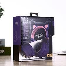<b>Wireless Bluetooth</b> Kids <b>Headphones</b> Cat Ear <b>Bluetooth</b> LED Light ...