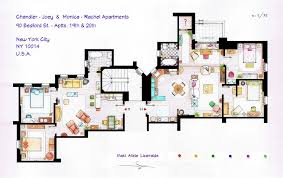 Accurate Floor Plans Of Famous TV Show Apartments   ViralscapeFriends Apartment Floor Plans