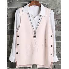 Online Shop 2019 <b>Autumn Winter</b> Wool Sweater <b>Vest Women</b> Button ...
