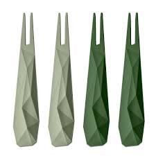 Набор из 4 шпажек club, зелёный - KLEUS