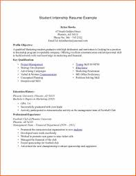6 college student resume example budget template letter college student internship resume example