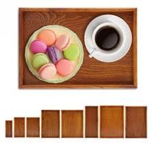 Прямоугольный деревянный поднос для чая, сервировочный ...