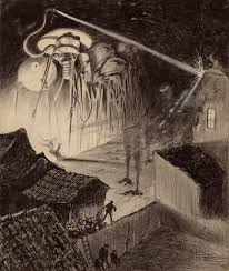 horrifying illustrations of h g wells war of the worlds war1 h g wells war of the