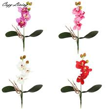 day orchid decor: real touch flowers valentines day  pc triple head artificial butterfly orchid silk flower home wedding