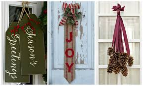 Small Picture 14 DIY Christmas Door Decorations Holiday Door Decorating Ideas