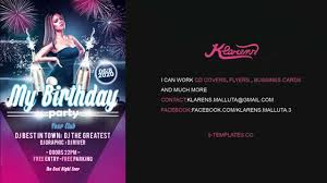 my birthday party flyer psd template my birthday party flyer psd template