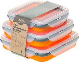 """<b>Контейнер Tramp</b> """"Силиконовая посуда"""", цвет: оранжевый, 3 шт ..."""